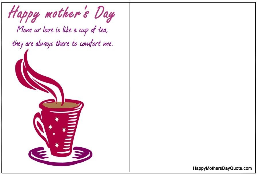 mothers day double sided printable card