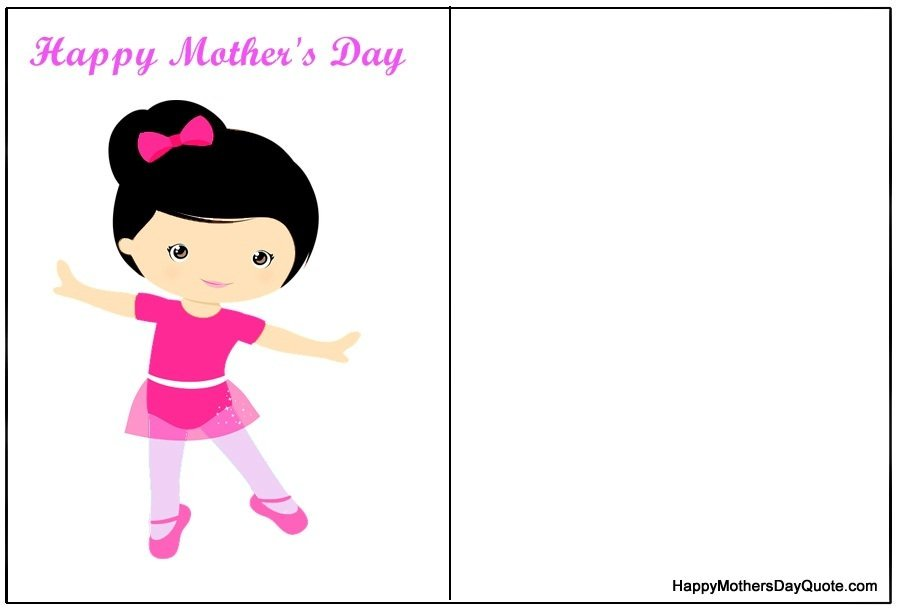 Cute Mothers Day Card with Little Baby Girl