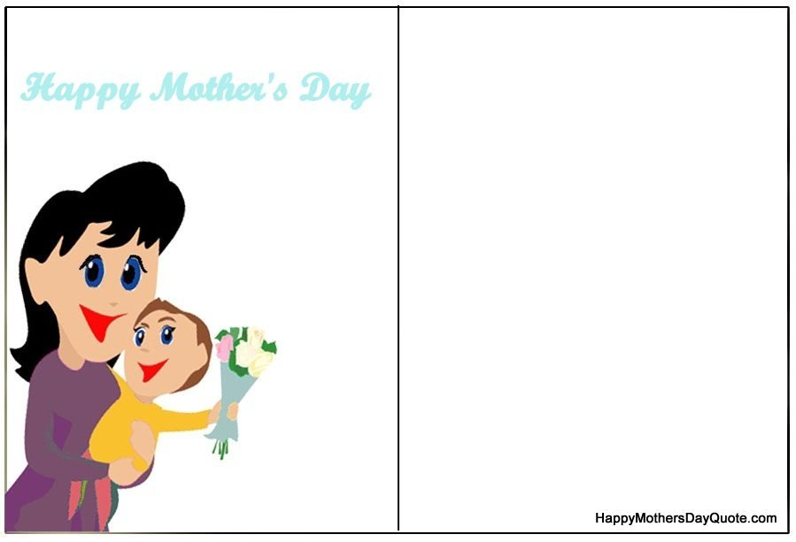 Double Sided Cute Funny Mother Day Card