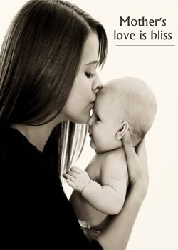 Mother Kissing to Baby