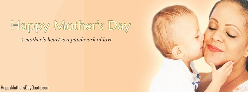 simple mommy day facebook cover
