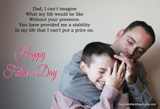 Father Son Smiling on Fathers Day