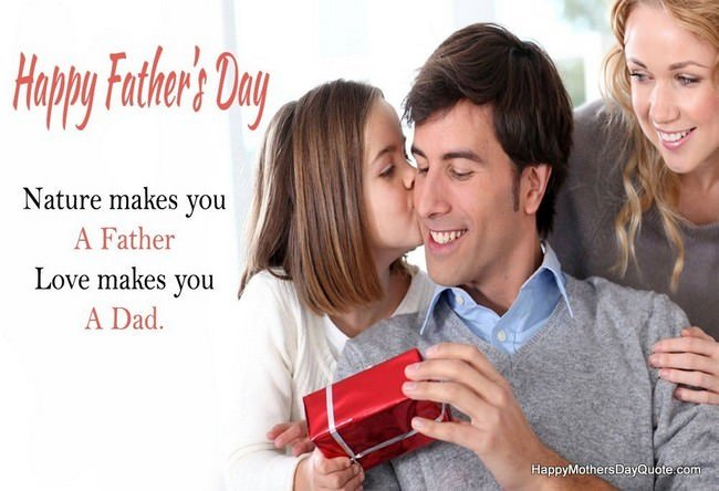 Parents with Daughter on Fathers Day