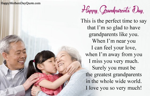Grandparents Day Poem from Kids