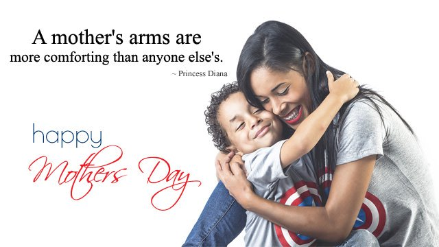 A mothers arms are more comforting than anyone else