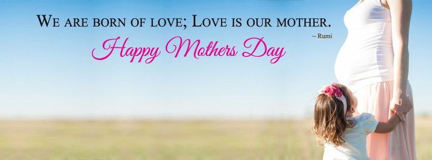 Happy Mothers Day Saying Facebook Cover Image