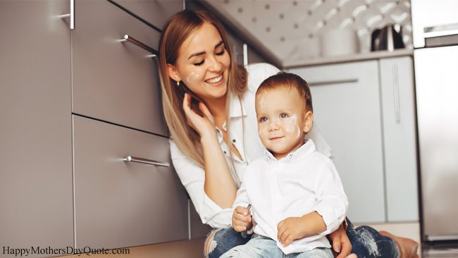 How Cute Baby Boy and Beautiful Mom