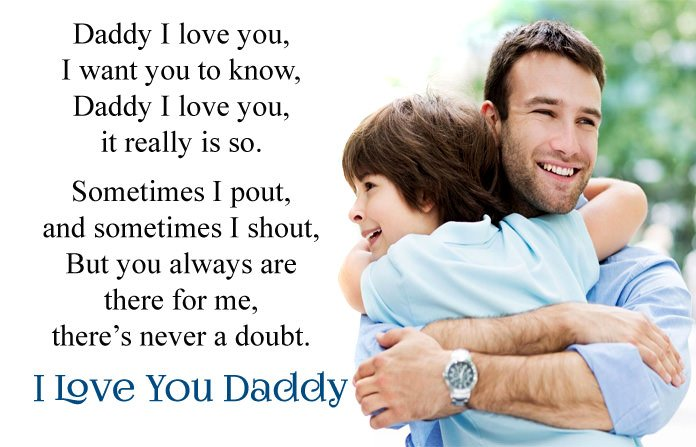 I Love You Dad Poem From Daughter Son
