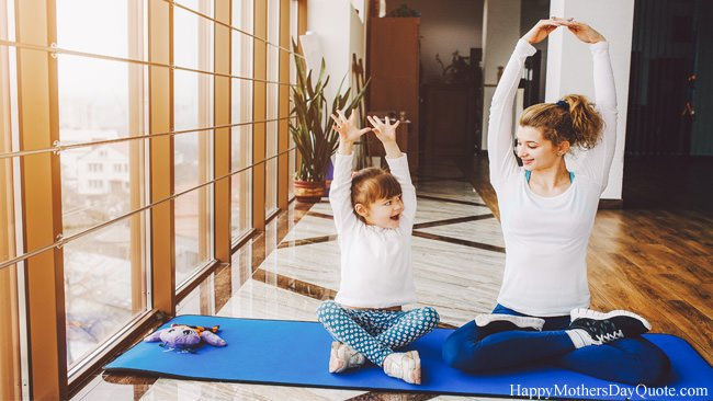 Mom Daughter on Yoga Together