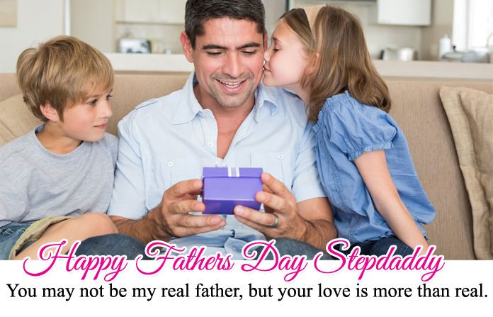 One Line Step Dad Fathers Day Quotes For Whatsapp & FB