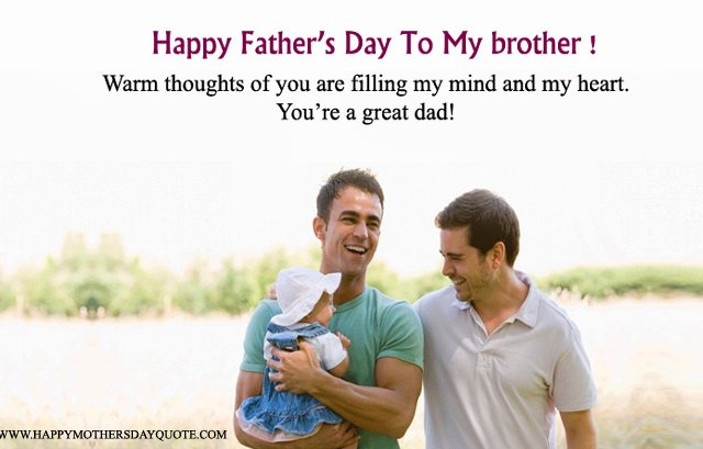 Happy Fathers Day To My Brother