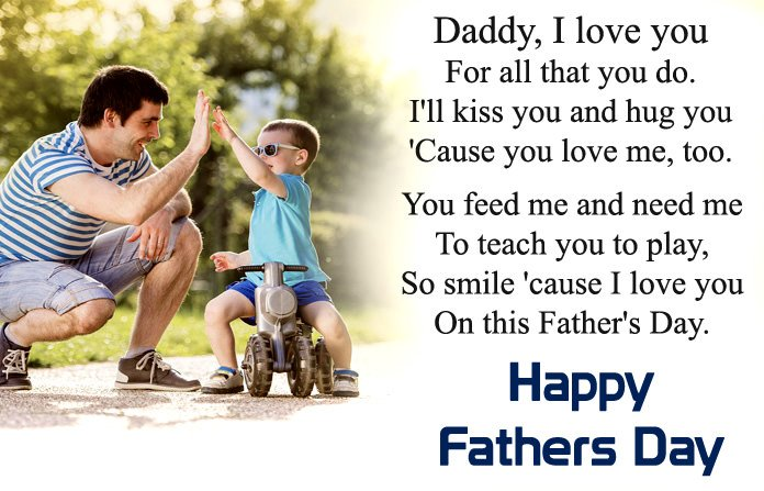 special happy fathers day wishes from son to lovely dad text msg