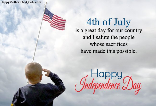 Patriotic 4th July Independence Day Wishes Msg