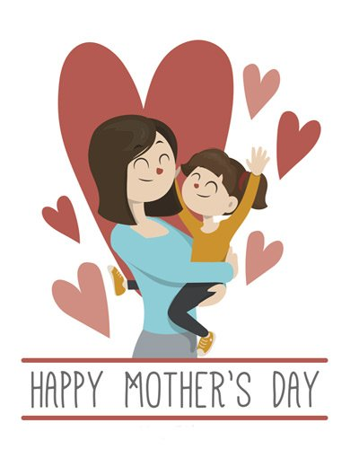 Cute Mother Day Vector Image