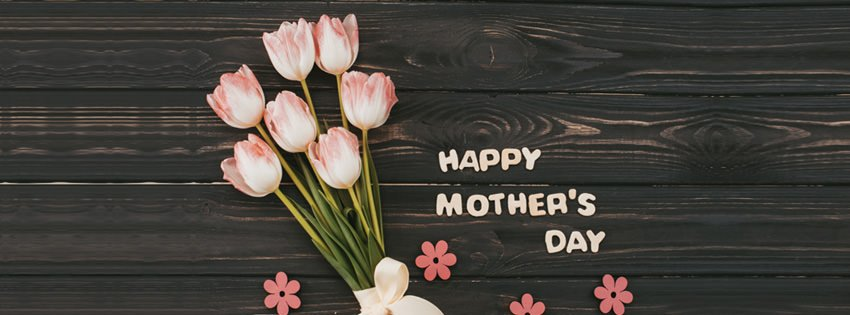 Happy Mother's Day Cover Photo with Flowers