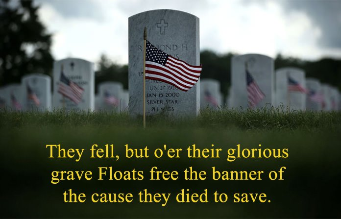 Lines about Memorial Day Glorious