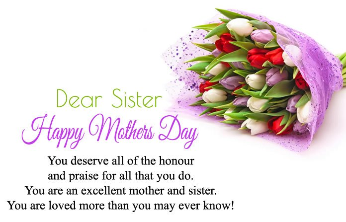 Happy mothers day to my sister quotes best wishes to my loving sister mothers day wishes for sister m4hsunfo