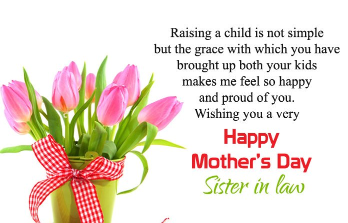 Mothers Day Wishes to My Sister In Law