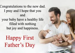 1st time Fathers Day Congratulations Messages