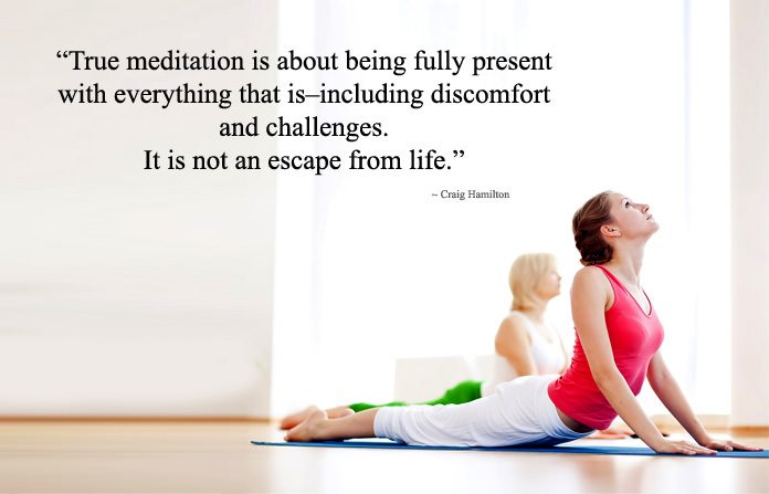 Challenges Meditation and Yoga Quotes