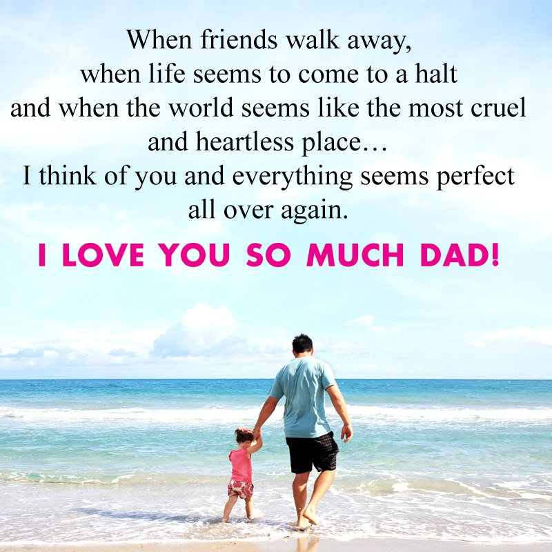 I Love You Dad Quotes from Daughter