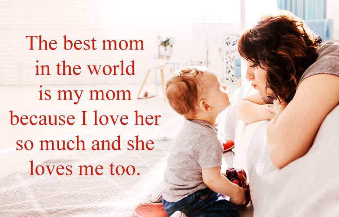 Cute I Love You Mom Quotes From Daughter and Son | Words for ...