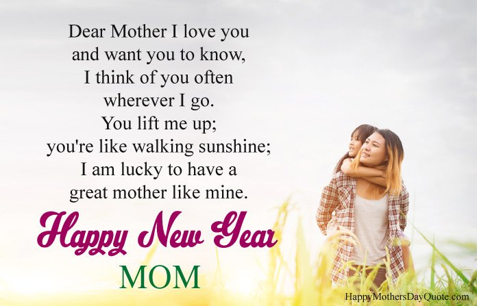 Happy New Year Message for Mom