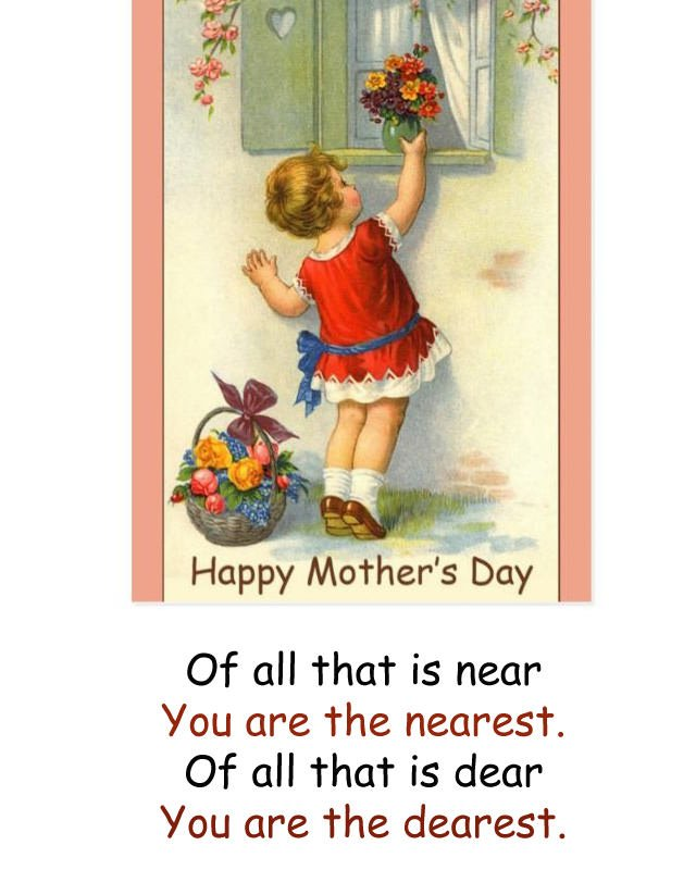 Cute Vintage Mothers Day Greetings