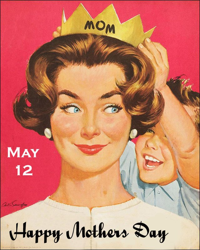 May 12 Happy Mothers Day Vintage Images