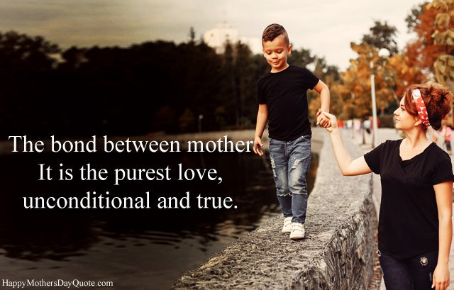 Unconditional Love Between Son and Mother
