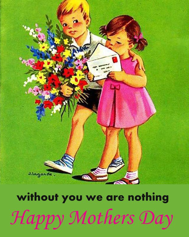 Vintage Kids Images for Mom's Day