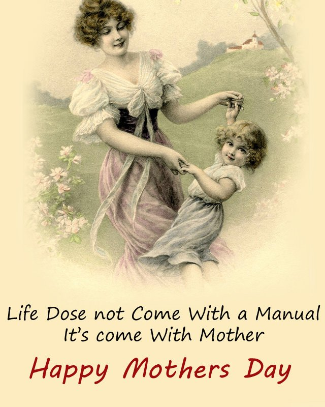 Vintage Mothers Day Images with Quotes