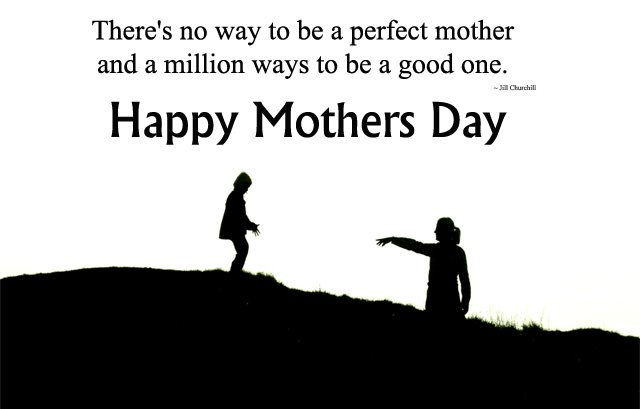 Black White Mothers Day Wishes Pictures