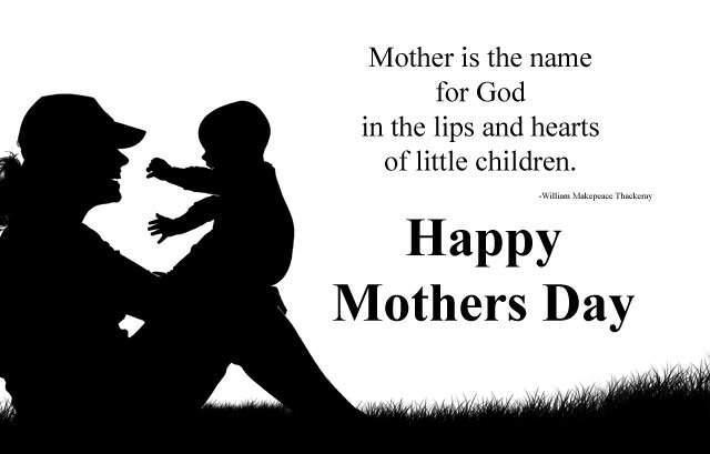Black and White Images for Mothers Day