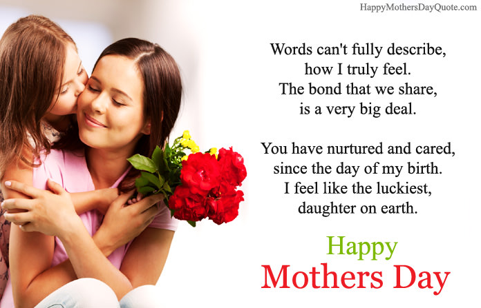 Happy Mothers Day Wishes From Daughter To Mother