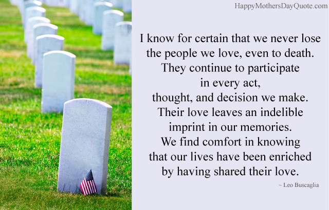Memorial Day Quotes about Death and Love