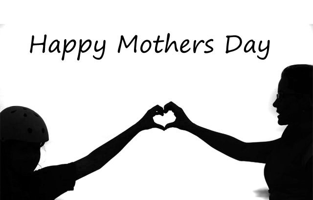 Mom Daughter Image with Heart Shape