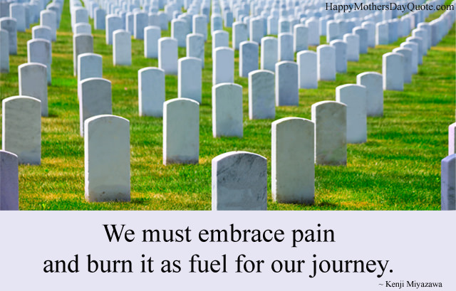 Pain And Burn Quote about Memorial Day