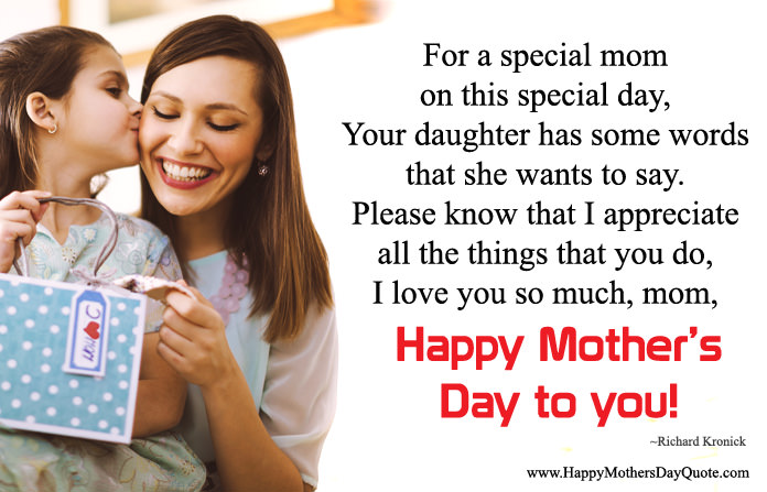 Quotes from Daughter To Special Mom