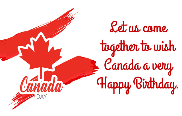 Canada Birthday Msg