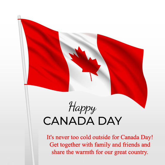Flying Flag Canada Day Touching Quotes