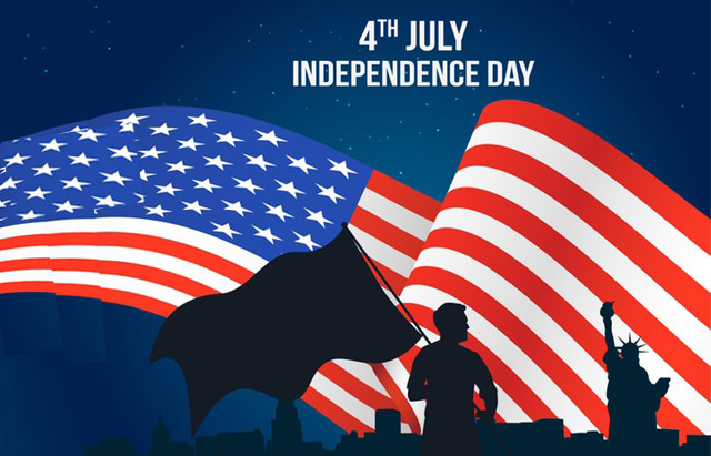 4th July Independence Day with Flag HD Image