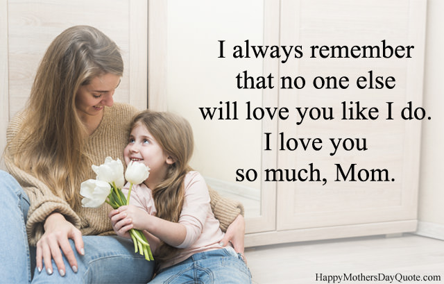 I Love You So Much Mom