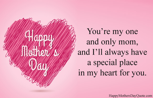 Heart Shape Pic for Mom