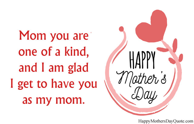 I Am Glad Lines from Child for Mom