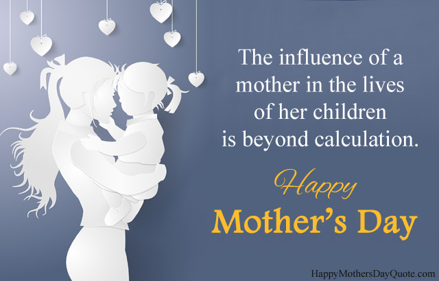 Mothers Day Blank White Image with Msg