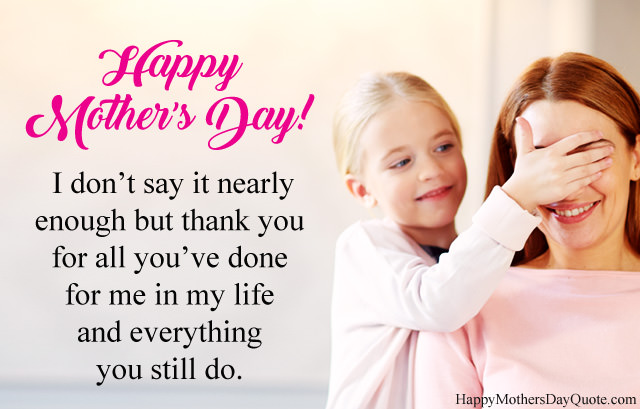 Thank You Mom Mothers Day Messages with Wishes